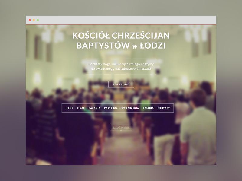 Small website refreshment kchb łódź baptyści baptist header webiste keyners simple elegant
