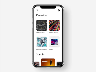 Music App Interaction minimal iphone app music interface interaction