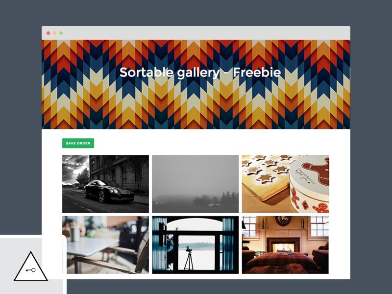 Sortable gallery jquery ui sortable php mysql freebie download keyners free