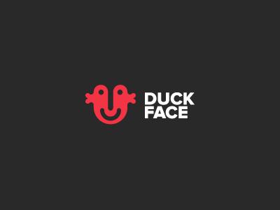 Duck face - logo logo logotype identification keyners simple minimal design
