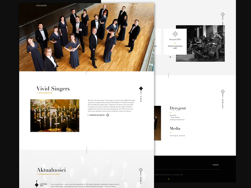 Choir website onepage showcase choir keyners elegant sidebar website minimal html parallax simple