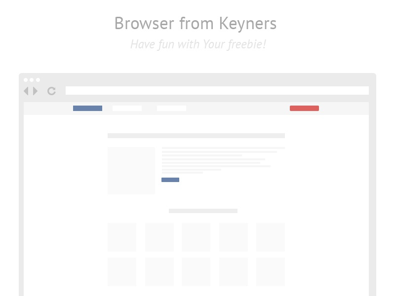 Browser freebie from keyners free freebie browser simple minimal keyners downlaod psd