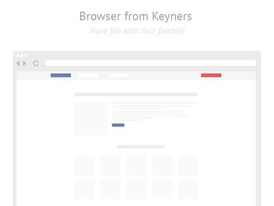 Browser freebie from keyners free freebie browser simple minimal keyners downlaod psd