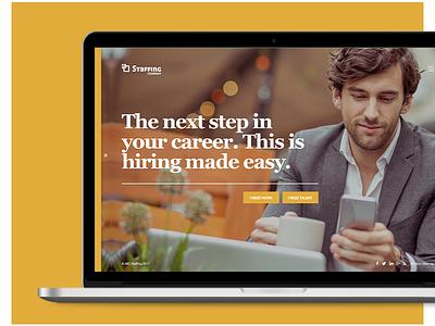 Staffing Website Concept yellow staffing website ui ux