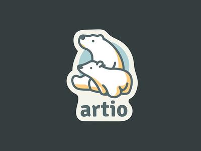 Artio Sticker polar bear illustration sticker