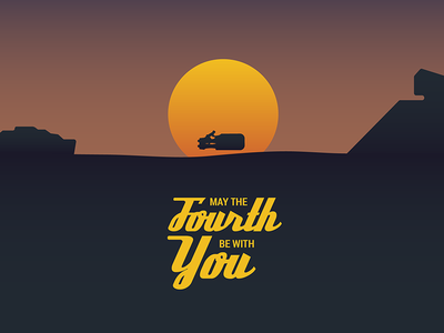 May the Fourth be with You star wars day illustration rey jakku star wars may the fourth