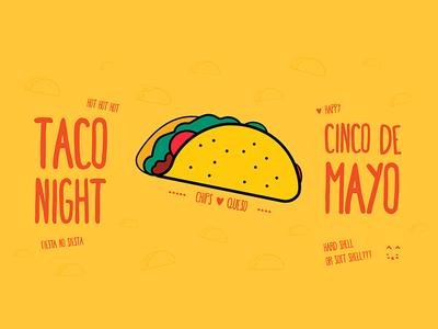 Cinco De Mayo fun stuff side project illustration taco night cinco de mayo