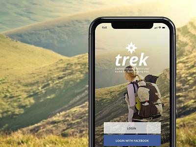 Trek Homescreen mobile design ux ui