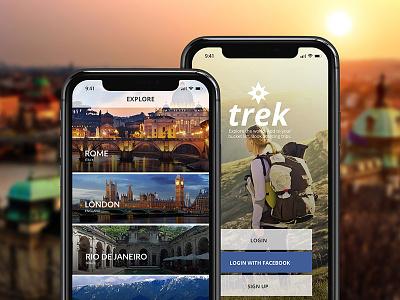 Trek Explore mobile design ux ui