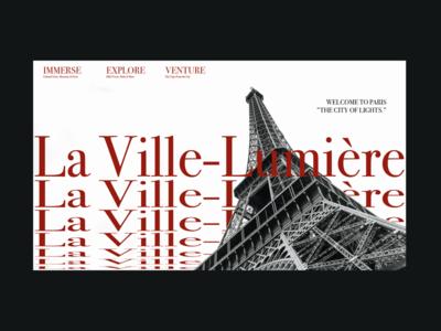 La Ville-Lumière Landing Page lansing page travel yb design in transit city of light paris remote year freelance yb boring digital nomad