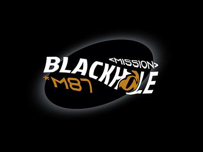 Mission Blackhole *M87 outer space blackhole space icon typography branding logo vector illustration
