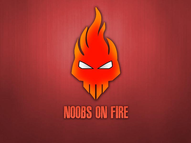 noobs on fire nof gaming clan logo by shahinur rashid tuhin