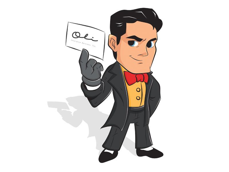 Mascot Logo OLI suit logo mascot