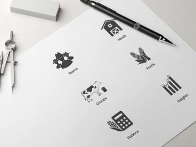 Icons for Farm Dashboard