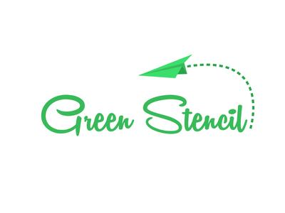 Green Stencil Logo