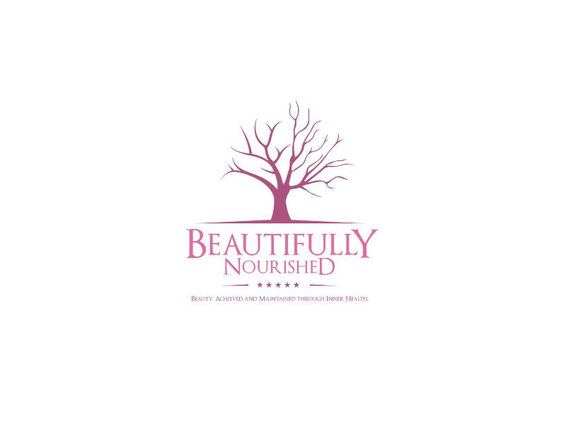 Beautifully Nourished minimal logo vector