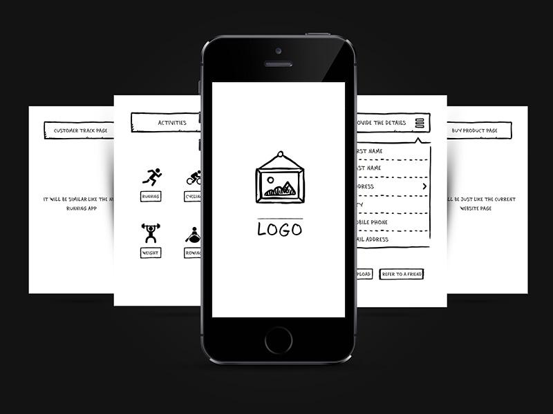 App Wireframe Design design wireframe app