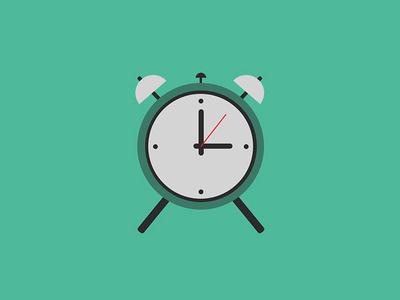 Flat Alarm Clock Icon Design