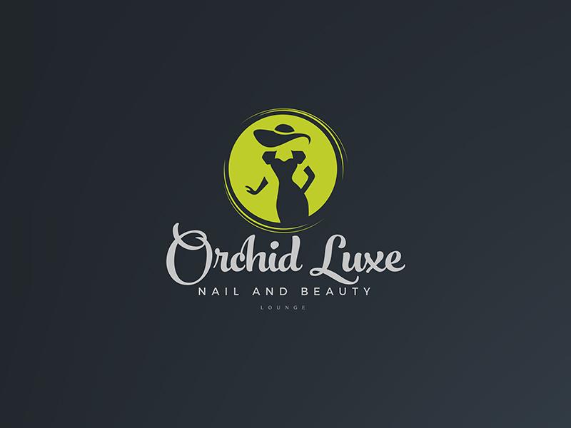 Orchid Luxe Logo luxury cosmetics logo women