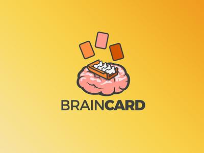 Brain card logo and icon