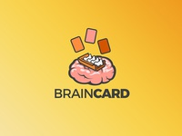 Brain card logo and icon