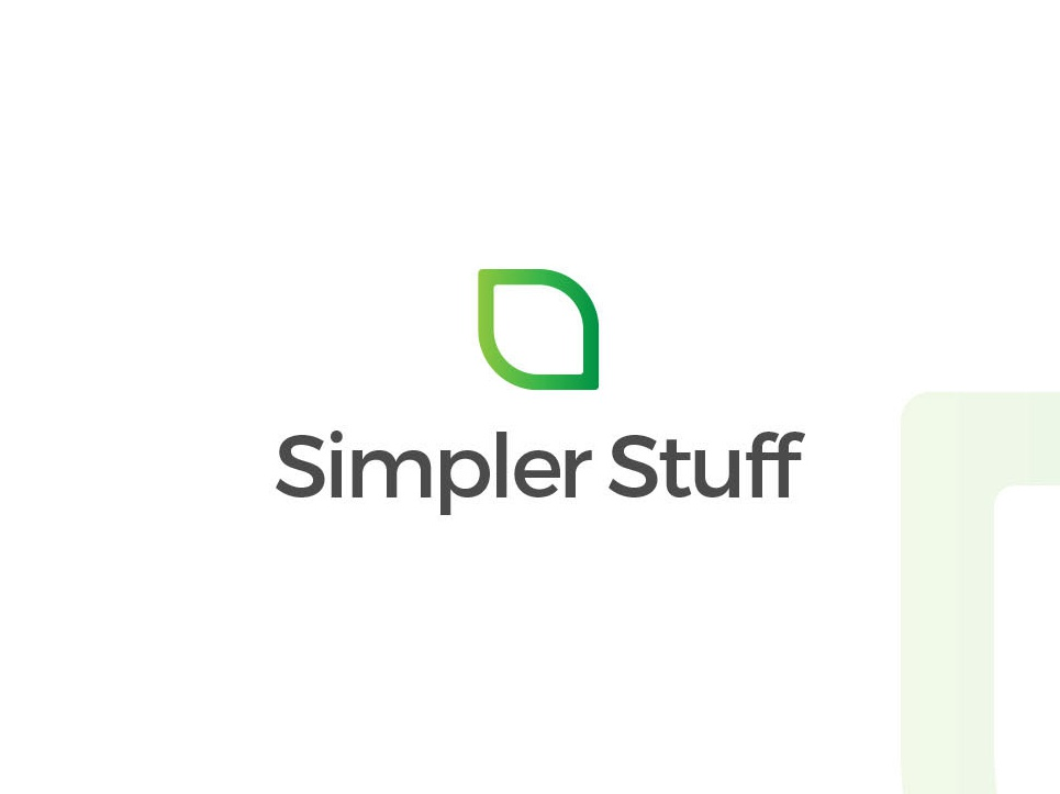 Simpler Stuff Brand Logo Design app minimal illustration character mascot minimalist branding vector icon flat design logo