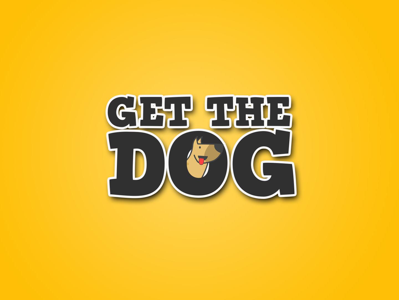 Get the dog game logo design gaming app minimal illustration character mascot minimalist branding vector icon flat design logo
