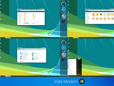 Vista Modern theme for Windows 10 windows10themes windows10 windows visualstyle visual uxtheme uxstyle transformation themepack theme suite style skinpack skin shellpack pack ipack iconpackager iconpack icon