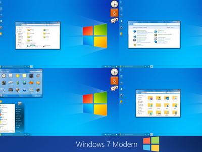 Windows 7 Modern theme for Windows 10 windows10themes windows10 windows visualstyle visual uxtheme uxstyle transformation themepack theme suite style skinpack skin shellpack pack ipack iconpackager iconpack icon