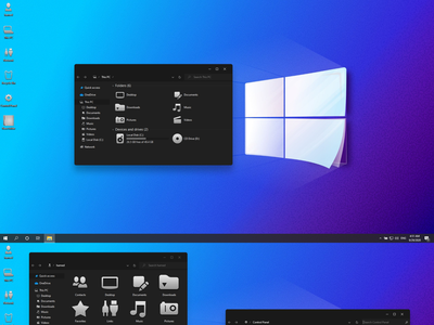 Windows 11 Modern Dark theme for Windows 10 windows10themes windows10 windows visualstyle visual uxtheme uxstyle transformation themepack theme suite style skinpack skin shellpack pack ipack iconpackager iconpack icon
