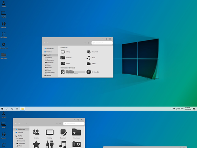 Windows 11 Modern theme for Windows 10 windows10themes windows10 windows visualstyle visual uxtheme uxstyle transformation themepack theme suite style skinpack skin shellpack pack ipack iconpackager iconpack icon