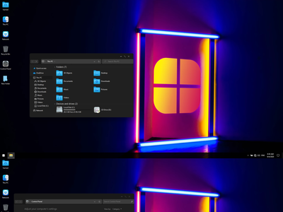 winOS Dark Theme for Windows 10 windows10themes windows10 windows visualstyle visual uxtheme uxstyle transformation themepack theme suite style skinpack skin shellpack pack ipack iconpackager iconpack icon