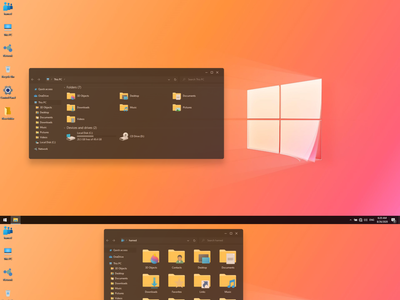 Windows 20 Dark theme for Windows 10 windows10themes windows10 windows visualstyle visual uxtheme uxstyle transformation themepack theme suite style skinpack skin shellpack pack ipack iconpackager iconpack icon