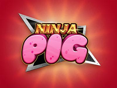 Ninja Pig martial arts japan karate videogame game mobilegame ninjalogo ninja pig logo