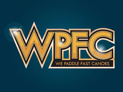 WPFC sports logo canoe branding