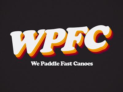 WPFC branding outdoor team vintage classic retro sports camping canoe logo