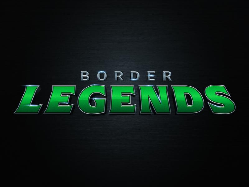 Border Legends metal green shopping ebay branding superhero comic shop store heroes comic book legends border