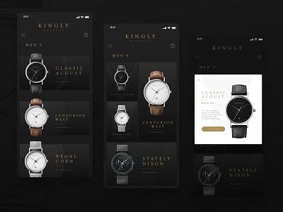 Shopping mobileapp mobile app xd adobexd adobe uidesign kingly masonry shopping watches ui design