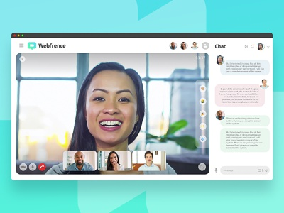 Webfrence video chat uidesign ui webcall conferencecall videochat andreaeppy adobexdchallenge xdchallenge
