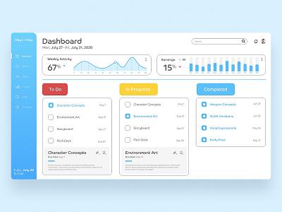 Day to Day timetracker behance challenge xdchallenge adobexd adobe dashboard workplaceapp work app uidesign ui webdesign projectmanagement project