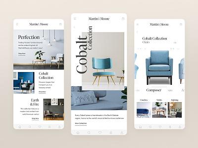 Martin&Moore decorate home shopping site web xd design cobalt ux ui uidesign app ui ecommerce store furniture store chairs furniture adobexd adobe app