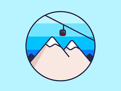 Jackson Hole  gondola skiing illustration doodle mountain jackson hole