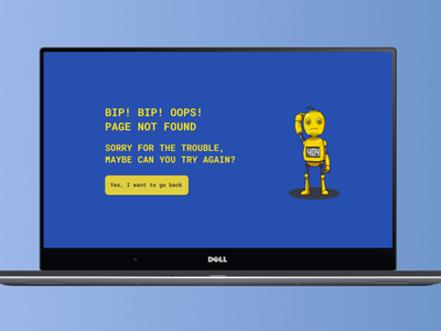 404 Page design web mockup dailyuichallenge ui ux dailyui