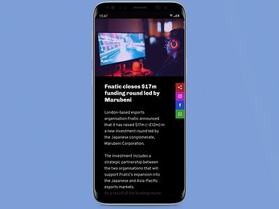 Social Share app mobile mockup dailyuichallenge dailyui ui ux design