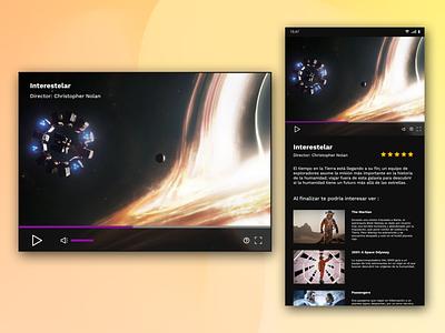 Video Player branding logo illustration app ui mockup dailyuichallenge dailyui ux design