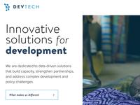 Devtech Concept C: Home Page Design