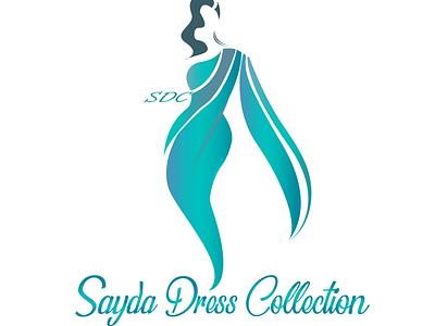 "logo for "" sayda dress collection "" portrait art vector vector illustration vector art logo design illustration"