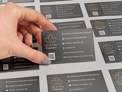 """Visiting card design for """" LILY & LILAC """" visiting card design vector illustration vector art logo design illustration"""