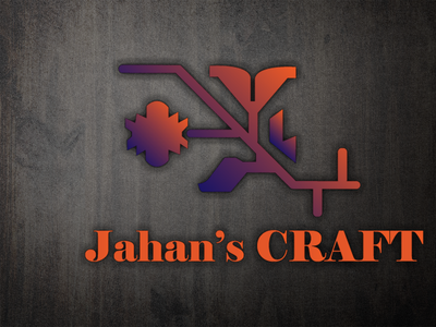 "Logo design for "" JAHAN'S CRAFT "" branding vector vector illustration vector art logo design illustration"