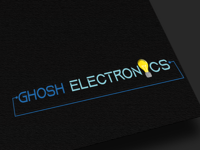 """Logo design for """" GHOSH ELECTRONICS """" visiting card design icon flat typography vector vector illustration vector art logo design illustration"""
